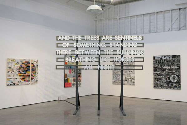 New Generation: James Verbicky, Robert Montgomery and Olivia Steele, installation view