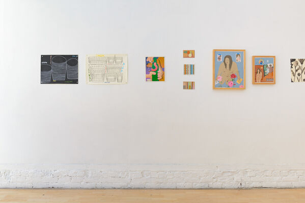 """Friends & Family"" Group Show, installation view"