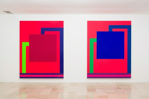 Peter Halley - New Paintings: Associations, Proximities, Conversions, Grids., installation view