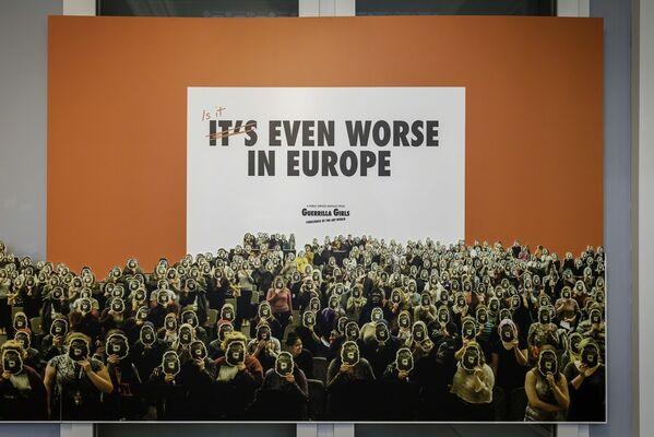 Guerilla Girls: Is it even worse in Europe?, installation view