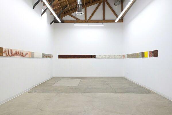 """Mira Schor: War Frieze (1991 - 1994) and """"Power"""" Frieze, installation view"""