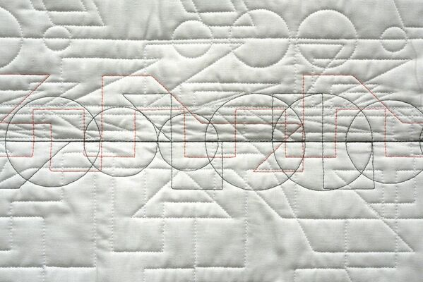 Kathy McTavish: Generative Textile Drawings, installation view