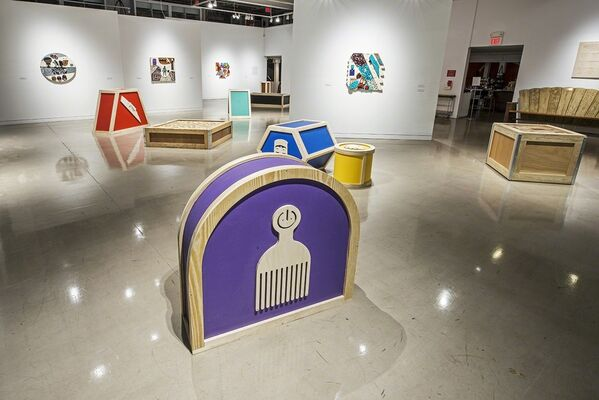 Damien Davis: Color Cargo presented by The Center for Art in Wood, installation view
