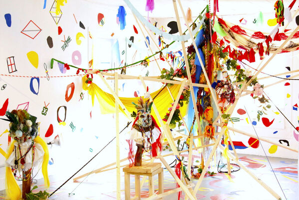 Entering Sacred Grounds—Charo Oquet, installation view