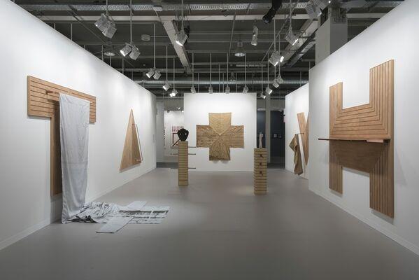 """Pia Camil: """"skins"""" at Art Basel 2016, installation view"""