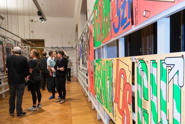 100 BEST POSTERS 15: Germany Austria Switzerland, installation view