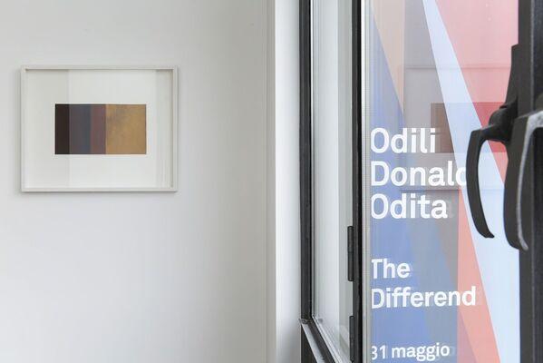 "Odili Donald Odita, ""The Differend"", installation view"