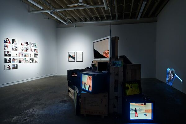 The Indexical, Alphabetized, Mediated, Archival Dance-a-Thon, installation view