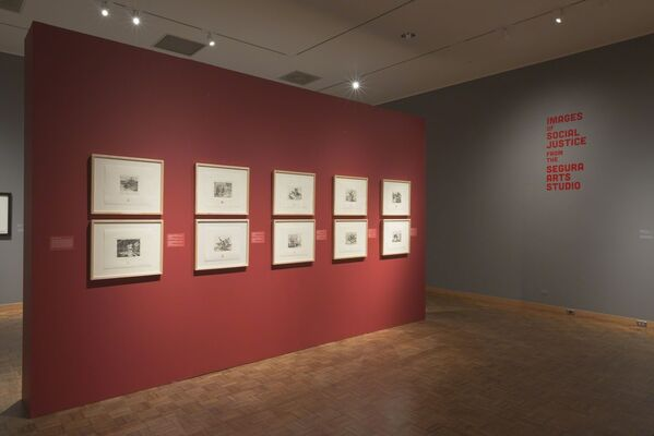 Images of Social Justice from the Segura Arts Studio, installation view
