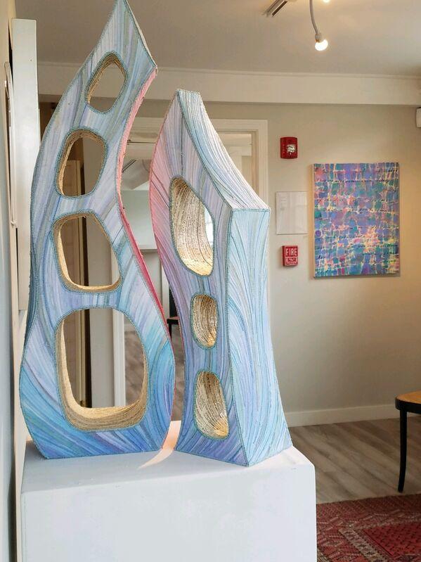 Jackie de Ruyter, 'Proximity (2 pc)', 2019, Sculpture, Fiber/Paper/Violin Strings/Monofilament, Miller White Fine Arts