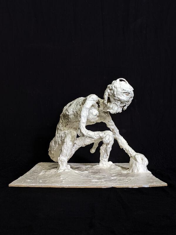 Mark Ferguson, 'Ogmios', 2020, Sculpture, Plaster, clay spackle, plywood, steel, aluminum wire, ShockBoxx