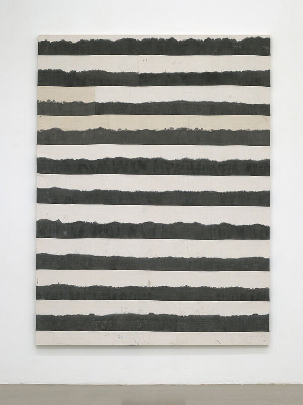 Ayan Farah, 'Dune', 2021, Painting, India ink, carob, sea salt and embroidery on linen, Kadel Willborn