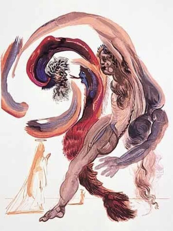 Salvador Dalí, 'Purgatory Canto 18 (The Divine Comedy)', Print, Wood engraving, Martin Lawrence Galleries
