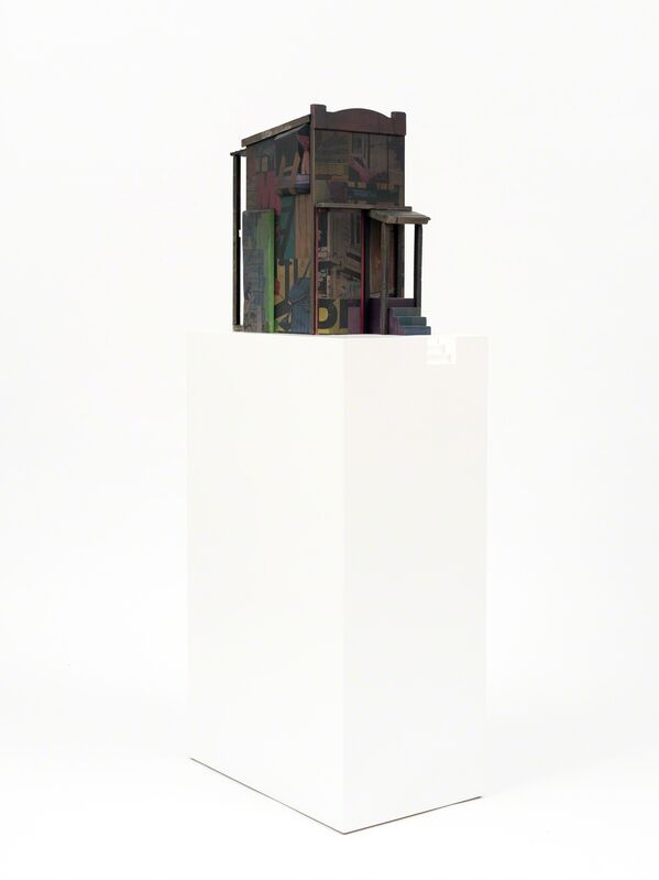 POSE, 'Row House Small', 2015, Sculpture, Mixed media and spray paint on wood with base, BEYOND THE STREETS