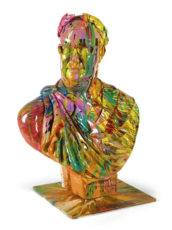 Damien Hirst, 'Bust of Frank ', 2008, Sculpture, Household gloss on Plaster, Maddox Gallery