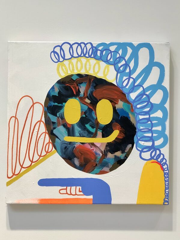 Mike Perry, 'I Am Nothing Without Hue', 2021, Painting, Gouache and acrylic on canvas, Richard Taittinger Gallery
