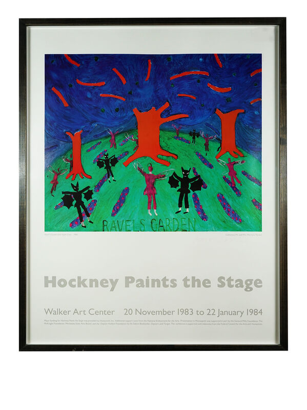 David Hockney, 'Paints the stage', 1984, Print, Offset Lithograph, Hidden
