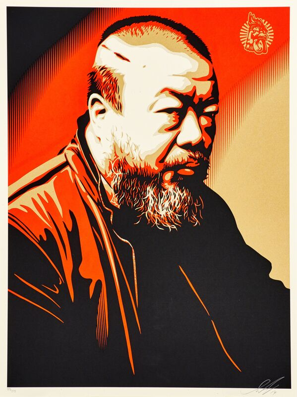 Shepard Fairey, 'Portrait of Ai Weiwei', 2014, Print, Lithograph in colors, Rago/Wright