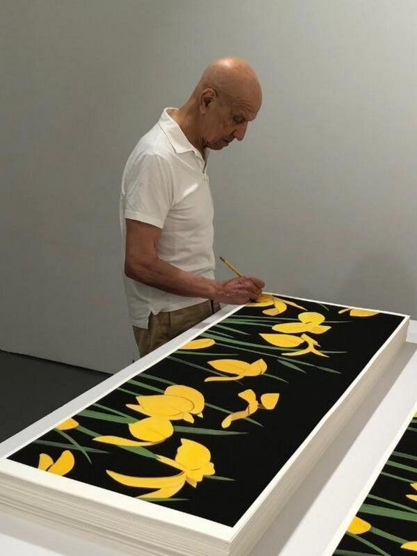 Alex Katz, 'Yellow Flags 2', 2018, Print, Paper, Frank Fluegel Gallery