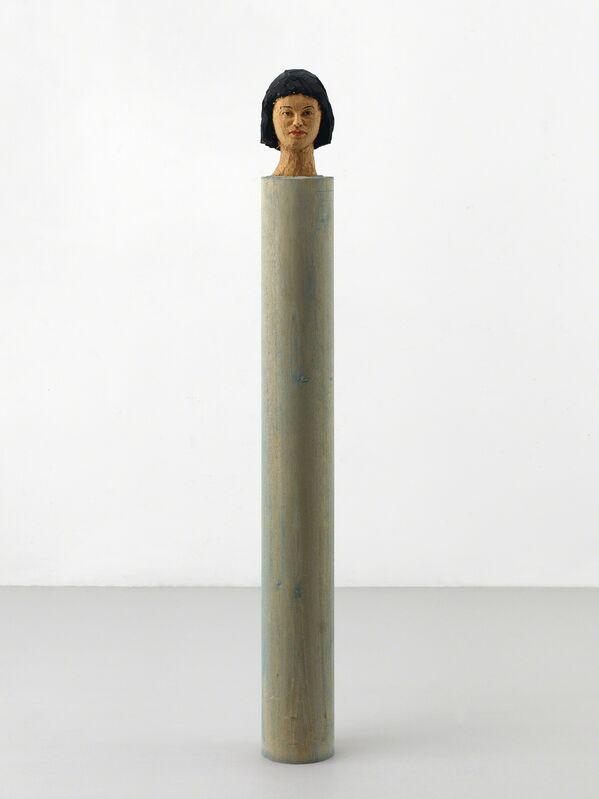 Stephan Balkenhol, 'Kleine Kopfsäule', 1991, Sculpture, Wawa wood, painted, Ludorff