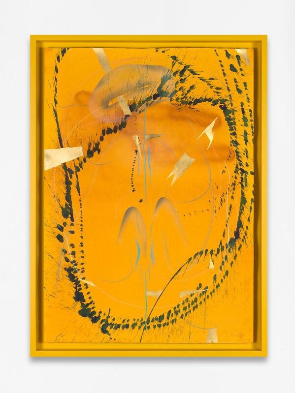 Jorinde Voigt, 'Immersive Integral / Firm Radiance VIII', 2019, Drawing, Collage or other Work on Paper, India ink, gold leaf, pastel, oil crayon, graphite on paper, framed, KÖNIG GALERIE