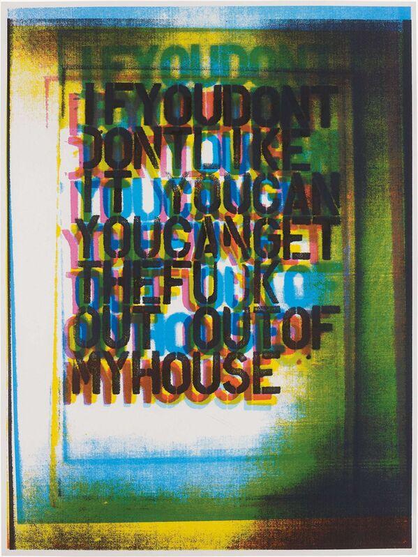Christopher Wool, 'My House III', 2000, Print, Screen print, Oliver Clatworthy