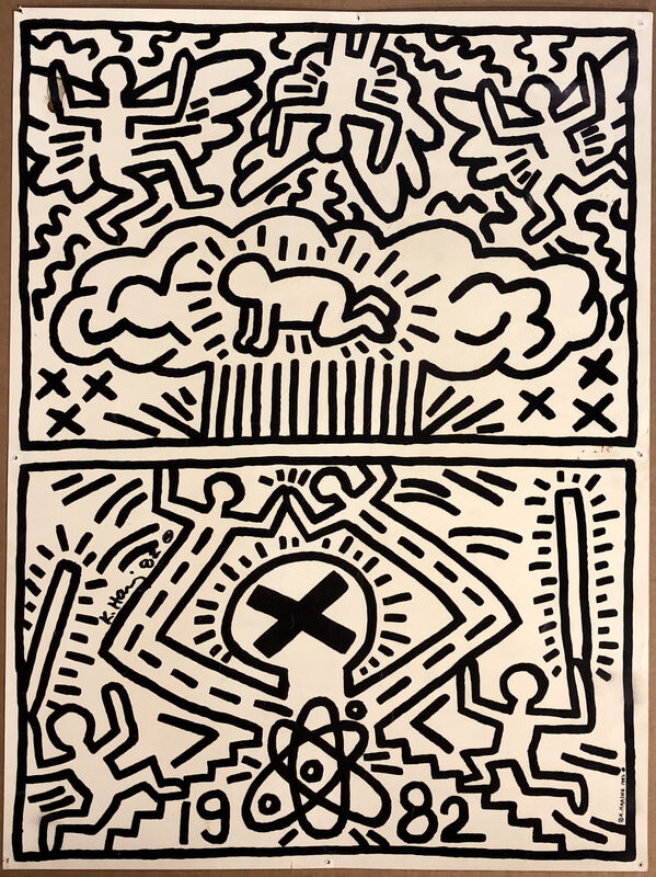 Keith Haring, 'No Nukes Announcement', 1982, Ephemera or Merchandise, Offset Lithograph, Woodward Gallery