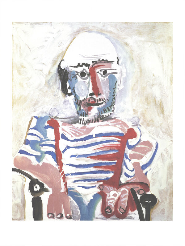 Pablo Picasso, 'Homme Assis', 2019, Reproduction, Offset Lithograph, ArtWise
