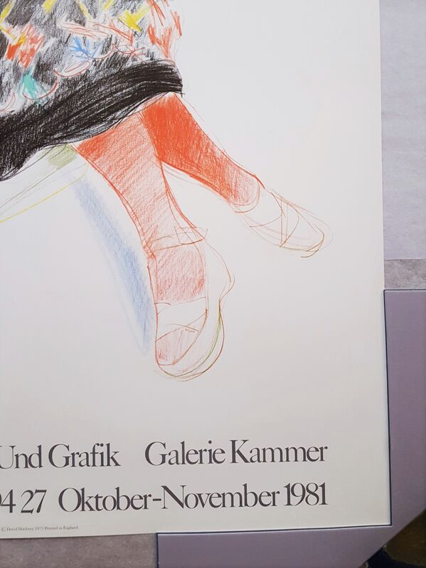 David Hockney, 'Galerie Kammer (Celia in a Black Dress and Red Stockings)', 1981, Posters, Offset-Lithograph, Exhibition Poster, Graves International Art
