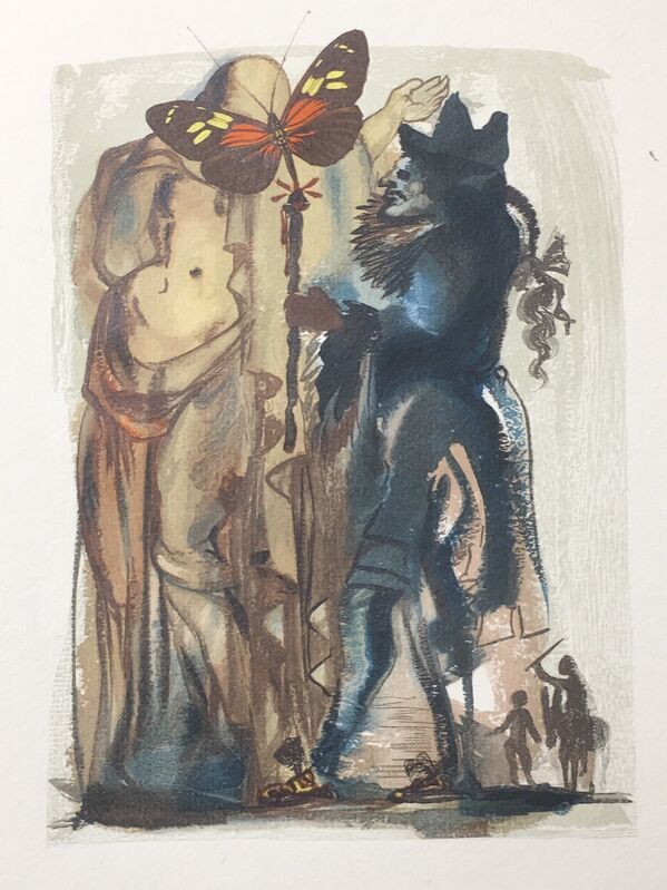 Salvador Dalí, 'Eh Well, And You ?', 1959, Drawing, Collage or other Work on Paper, Xylograph, Dali Paris