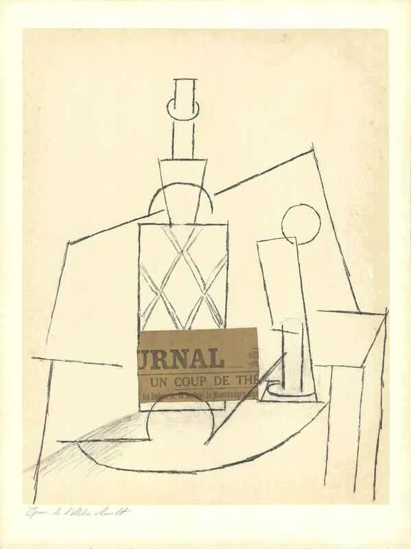 Pablo Picasso, 'Table with Bottle', 1955, Ephemera or Merchandise, Stone Lithograph, ArtWise