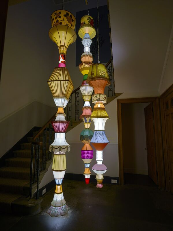 Andrew Miller, 'Mary Beth', 2016, Sculpture, Found lampshades, LED lights, Ingleby Gallery