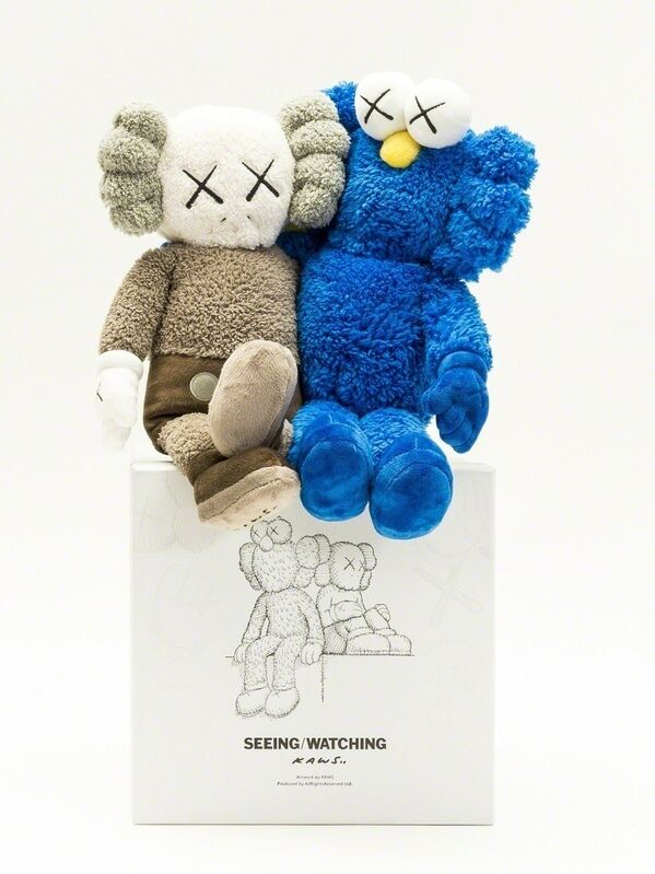 KAWS, 'Seeing/Watching', 2018, Sculpture, The plush fabric multiple, Forum Auctions