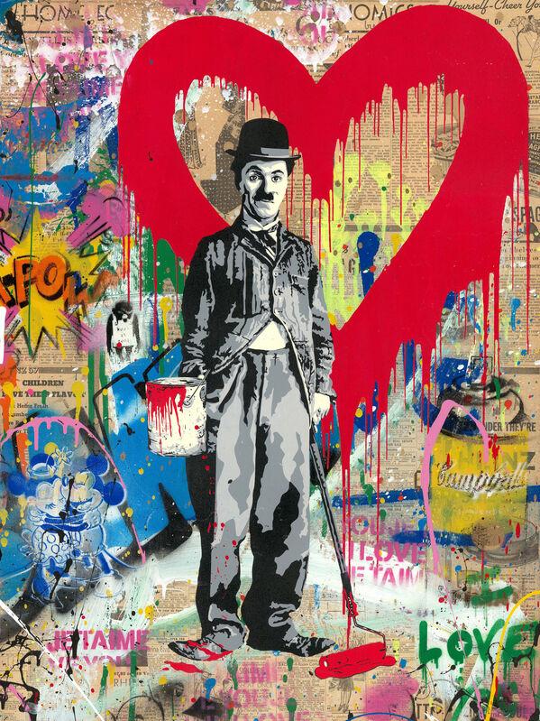 Mr. Brainwash, 'Chaplin', 2019, Mixed Media, Mixed media on cardboard, NG Art Gallery