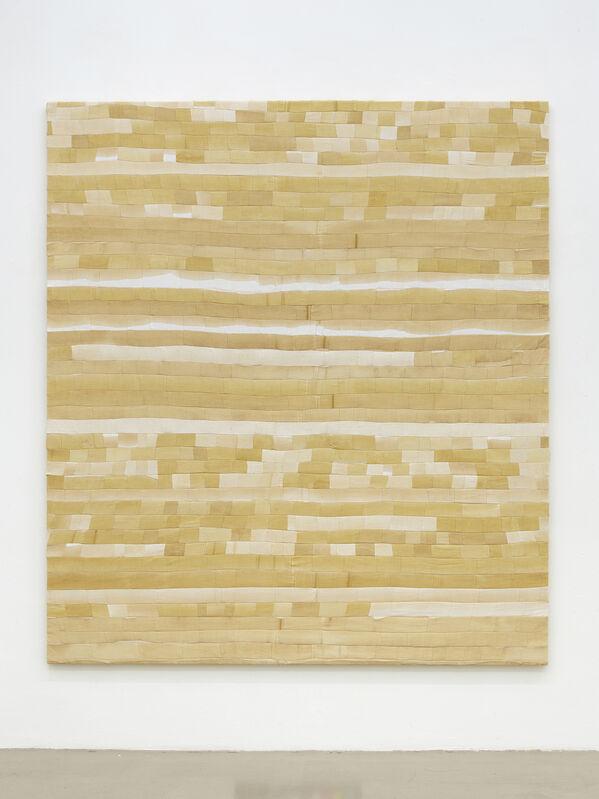 Ayan Farah, 'Nafisa', 2021, Painting, Marigold and carob on linen and hemp, Kadel Willborn
