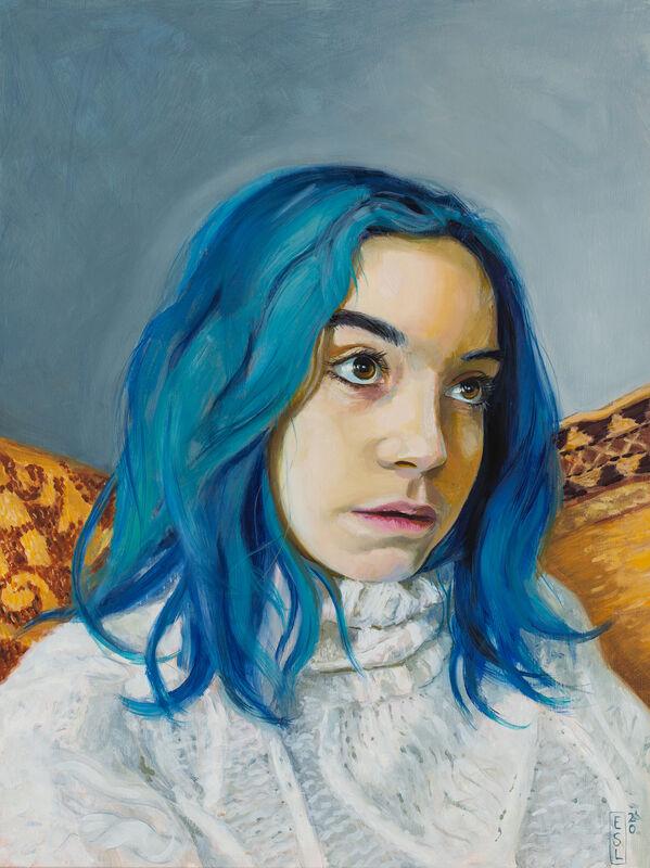 Ellen Starr Lyon, 'Blue Cloak', 2020, Painting, Oil on panel, 33 Contemporary