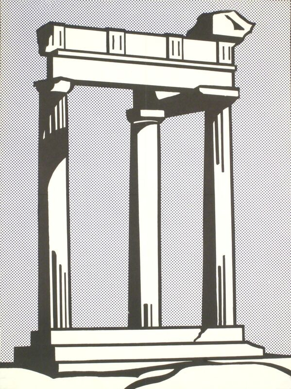 Roy Lichtenstein, 'Temple with folds.', 1964, Print, Offset Lithograph, ArtWise