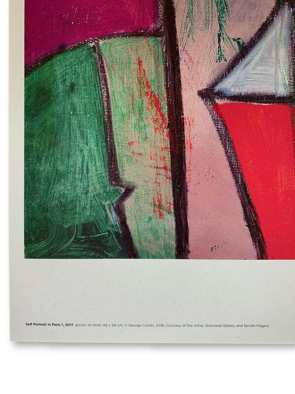 George Condo, 'Self Portrait in Paris 1 poster', 2018, Ephemera or Merchandise, Offset lithographic poster, EHC Fine Art