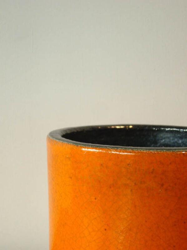 Georges Jouve, 'Cache pot', 1955, Design/Decorative Art, Orange enamelled ceramic, Jousse Entreprise