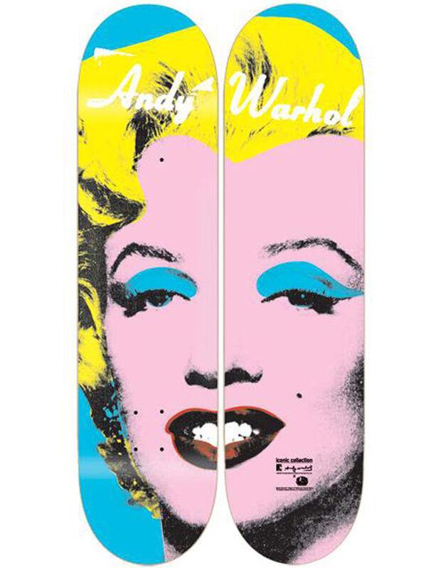 Andy Warhol, 'Marilyn diptych', 2012, Print, Screenprint on skateboard decks, EHC Fine Art Gallery Auction
