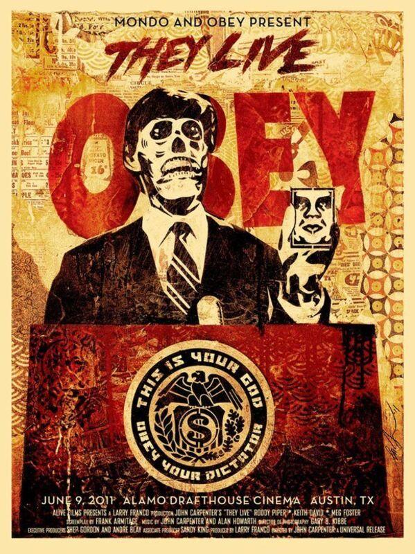 Shepard Fairey, 'They Live Mondo', 2011, Print, Screen print, Dope! Gallery