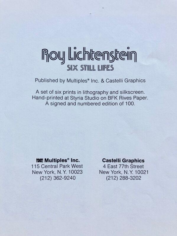 Roy Lichtenstein, 'Six Still Lives', 1974, Ephemera or Merchandise, Lithographic printing, Gallery 52