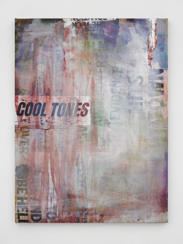 Mandy El-Sayegh, 'informant', 2020, Painting, Oil on silkscreened linen and collaged elements, Lehmann Maupin