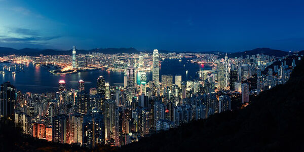 Chris Hauser, 'Sea of Lights, Bay of Hong Kong', 2011