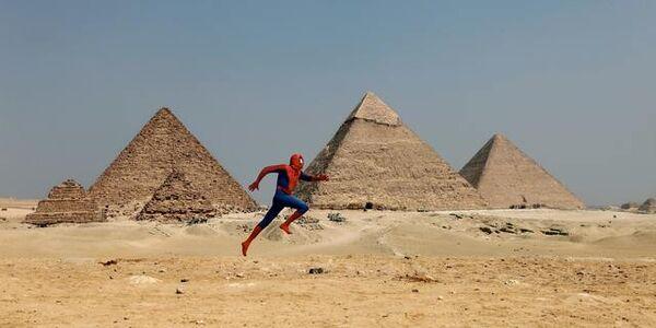 """David Kassman, '""""The Spiderman Project"""" Giza Pyramid', 2010"""