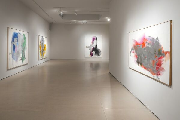 Cleve Gray: 1967 Silver Paintings, installation view