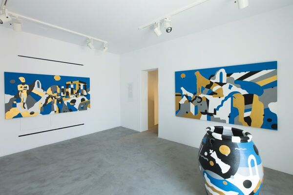 Les Cyclades Electroniques, installation view