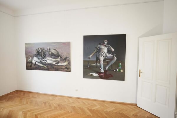 """Robert Bielik: """"Messages and therapies"""", installation view"""