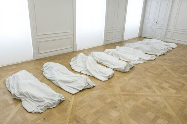 Maurizio Cattelan: Not Afraid of Love, installation view
