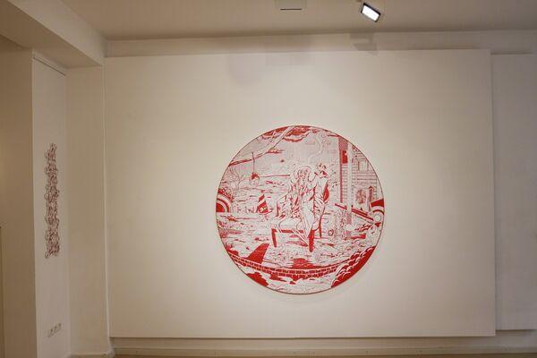 Waiting for the New World – Kenichi Yokono woodblock cuts, installation view